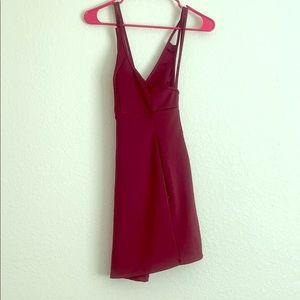 Velvet double strapped mini dress